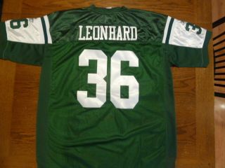 Reebok Stitched NFL Jim Leonhard #36 New York Jets JERSEY Mens Size 54