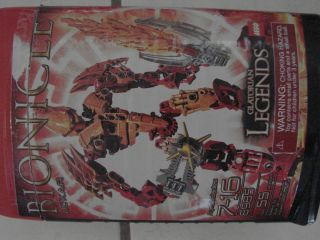 Lego Bionicle Glatorian Legends Ackar 8985 Figure and Box Book Toy Set