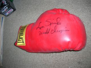 RARE Leon Spinks Signed Full Size Boxing Glove Autographed World Champ