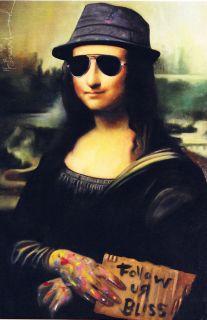 Mr Brainwash Mona Lisa Leonardo Da Vinci Lithograph Show Postcard Pop