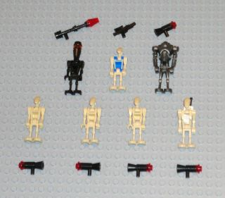 Lego 7 Star Wars Droid Minifig Lot Super Battle Droid Assassin Droid