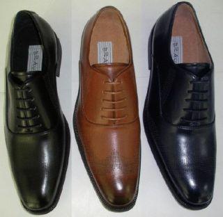 Hazan Bravo Luger Mens Oxford Dress Shoes Black Lace Up All Size