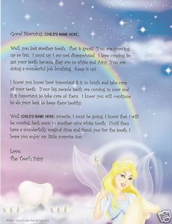 First Lost Tooth Kids Tooth Fairy Letter Personalized