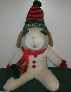 MACYS LAMB CHOP CHRISTMAS PLUSH SHARI LEWIS 22 H EXC PRE OWNED COND