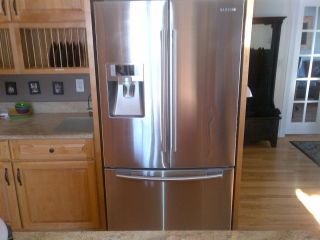 Samsung French Door Counter Depth Refrigerator Stainless Steel color