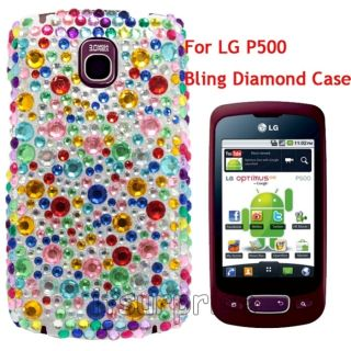 Diamond Colorful Bac Hard Case Cover for LG Optimus One P500 Phone