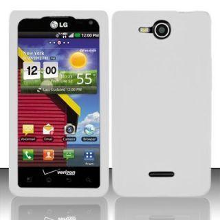 Verizon LG Lucid 4G VS840 New Soft Silicone Rubber Skin Case White