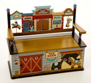 Levels of Discovery Wild West Western Horses Boys Toy Box Storage