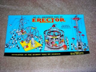 Gilbert Erector 10 1 2 Amusement Park Set Box Label Reproduction