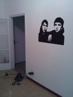 Oasis Wall Art Sticker Noel Liam Gallagher Decal Design