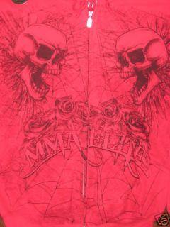 UFC MMA Elite Skull Hoodie sweat Shirt Liddell L RARE