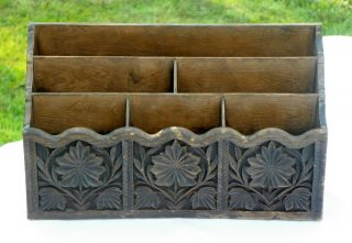 Vintage Desk Organizer Letter Mail Holder by Lerner