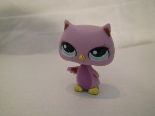 Littlest Pet Shop 1508 Light Purple Owl Bird RARE Brand New