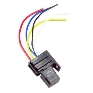 30A 5Pin 5 Wire Relay Socket Kit For Electric Fan Fuel Pump Light Horn