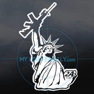 2nd Amendment Statue of Liberty gun family decals stickers VINYL CAR