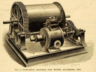 Portable Hoister Antique Machine Mines Quarries Lidgerwood Mfg Co NY