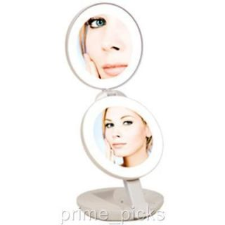 Compact Lighted Travel Makeup Mirror Cordless Portable
