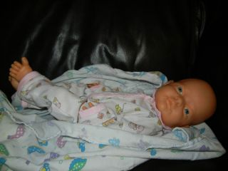 17 Baby Girl Vinyl Doll Newborn Lifelike Reborn Anatomically Correct
