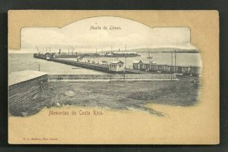 Costa Rica Pier Muelle de Puerto Limon Harbour Train CA 1899