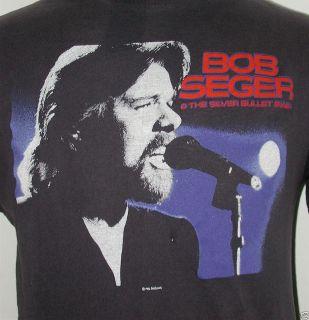 Bob Seger 1986 Concert T shirt 1980s Silver Bullet Band Classic Rock