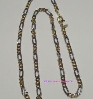 """Vintage 18"""" 14k Gold Plated Necklace Rinc Lind"""