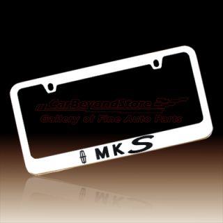Lincoln MKS Chrome Brass License Plate Frame, Lifetime Warranty + Free