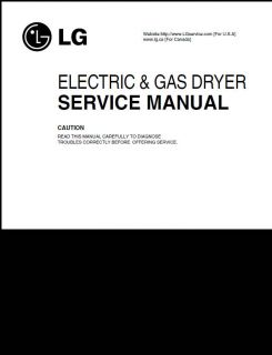 LG Dryer Service Repair Manual