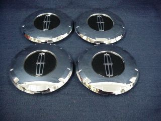 LINCOLN AVIATOR 03 05 CHROME CENTER CAPS SET 4 FIT THE 6 SPOKE CHROME