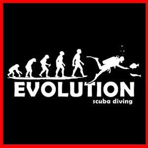 Ape to Scuba Diver Evolve Diving Dive Evolution T Shirt