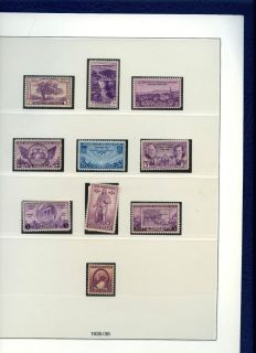 Lindner United States Hingeless Stamp Album 1847 1936 with Stamps