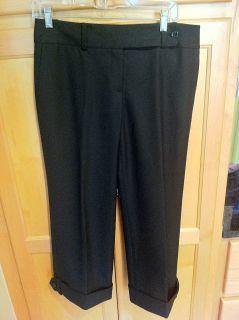 Ann Taylor Black Lindsay Fit Capri Dress Pants Size 6