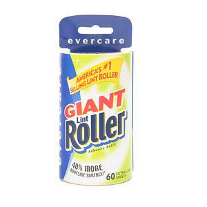 Evercare Giant Lint Roller 1 Refill 60 Extra Large Sheets New