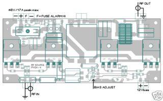 RF Power Am HF Amplifier Board Ham Radio Linear 500Watt