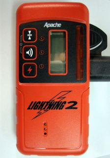 Lightning 2 Exterior Receiver Rod Clamp Red Laser Level Detector