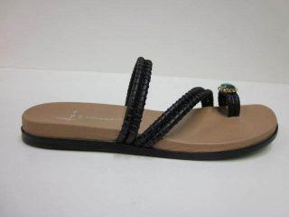 Lisa for Donald Pliner Womens Sandals Gunta Black