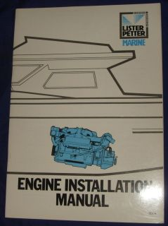 LA033 Lister Petter Marine Diesel Engine Installation Manual