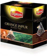 Lipton Orange Jaipur Pyramid Tea Bags 4 Boxes Imported