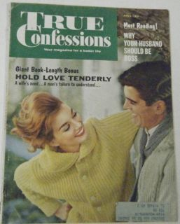 True Confessions Magazine Vol 69 465 1961 Vintage 60s Romance Stories