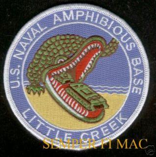US Navy Amphibious Base Little Creek VA Patch USS WOW