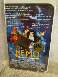 Little Nemo Adventures in Slumberland VHS 1994 Brand New Clam Shell