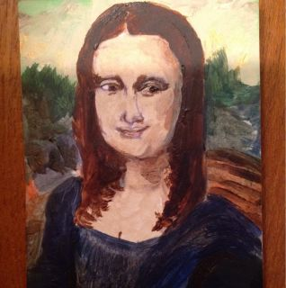 Mona Lisa ACEO Original Painting by Artist Hayley Rose