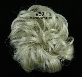 #59 Gray with 5% Black 3 Mona Lisa Hair Ponytail Holder Wig America
