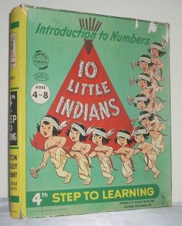 1957 Milton Bradley Ten Little Indians RARE Board Game