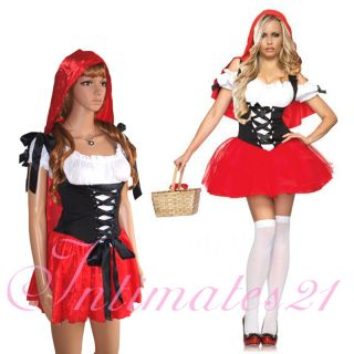 Sexy Adult Little Red Riding Hood Dress Costume Halloween Fancy Party