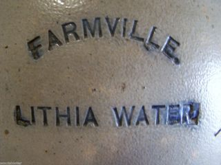 FARMVILLE LITHIA WATER   1884 1895 Mineral Water 1 Gallon Crock Jug