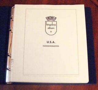 LINDNER HINGELESS USA COMMEMORATIVES STAMP ALBUM SLIP CASE NUMEROUS US