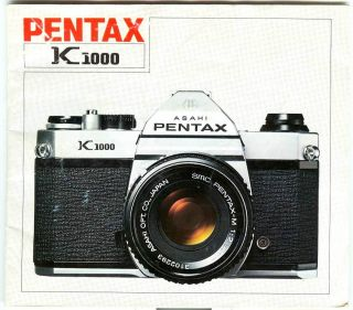 Pentax K1000 35mm film camera Original Instruction Manual, Very Good