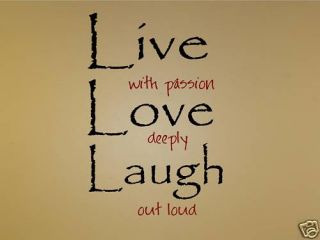 Live Laugh Love Out Loud Vinyl Wall Art Decals Words