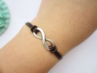 Bracelet antique silver little infinity bown bracelet alloy karma