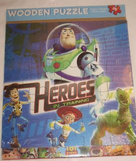 New Disney Toy Story Buzz Lightyear Woody Rex 25 Pc Wooden Puzzle